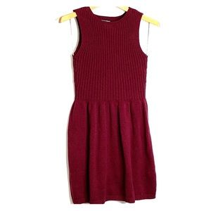 AMERICAN APPAREL • Maroon Ribbed Knit Ribbed Dress